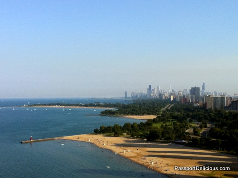 View of Chicago from Edgewater
