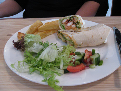 Tbc burrito with chips