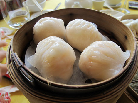 Lotus prawn dumplings